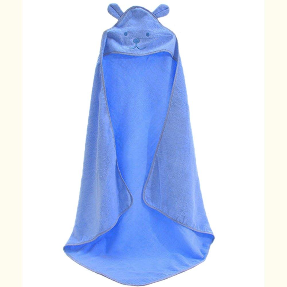 BLUESTAR bebé toalla de baño albornoz, con capucha algodón suave toalla de baño para bebé, 100% algodón, 100 cm x 100 cm azul: Amazon.es: Hogar