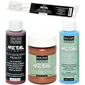 Modern Masters Metal Effects Copper Paint and Green Patina Kit 4-Ounce