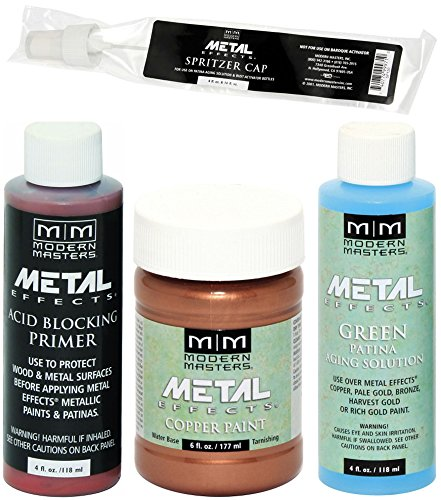 (Modern Masters Metal Effects Copper Paint and Green Patina Kit 4-Ounce)