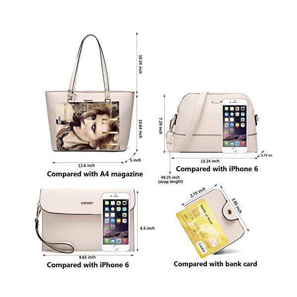 2002232ec20f ELIMPAUL Women Fashion Handbags Tote Bag Shoulder Bag Top Handle Satchel  Purse Set 4pcs.   