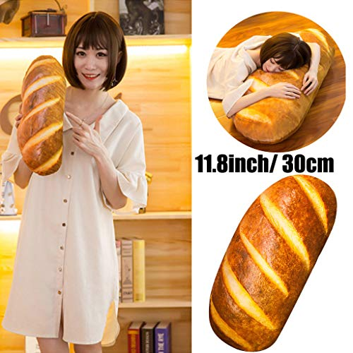 Clothful  Clearance on Sales  30CM 3D Simulation Bread Shape Pillow Soft Lumbar Back Cushion Plush Stuffed Toy ()