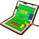 AKUKA Football Coach Board - Magnetic Command ClipBoard with Marker Pen - Coaching Strategy Board Kit Equipment (Zipper)