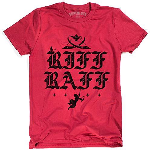Superluxe Clothing Mens/Womens/Unisex Riff Raff Funny Street Rat T Shirt, 3X-Large, Red