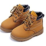 DADAWEN Baby's Boy's Girl's Classic Lace-Up Waterproof Outdoor Hiking Winter Boots (Toddler/Little Kid)