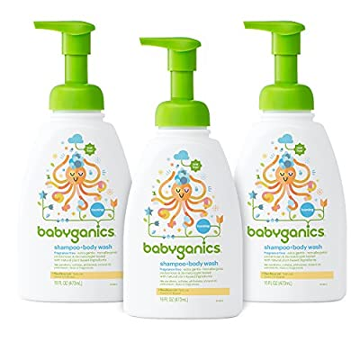 Babyganics Shampoo + Body Wash, 16 oz (Pack of 3), Packaging May Vary