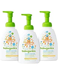 Babyganics Baby Shampoo and Body Wash, Fragrance Free, 3 Pack