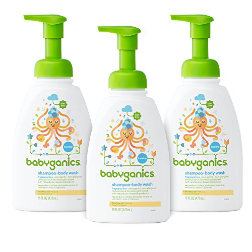 - Babyganics Baby Shampoo and Body Wash, Fragrance Free, 3 Pack