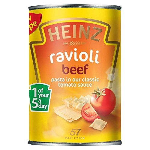 Heinz Beef Ravioli in Tomato Sauce (400g) - Pack of 2 - Heinz Beef