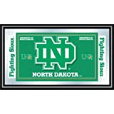 NCAA North Dakota Logo and Mascot Framed Mirror