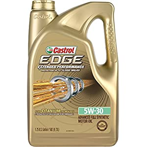 Castrol 03087 EDGE Extended Performance 5W-30 Advanced Full Synthetic Motor Oil, 5 Quart