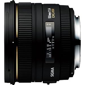 Sigma 50mm f/1.4 EX DG HSM Lens for Canon Digital SLR Cameras