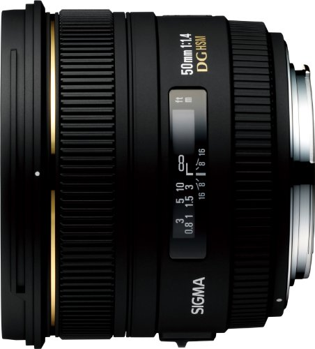 Sigma 50mm f/1.4 EX DG HSM Lens for Canon Digital SLR Camera