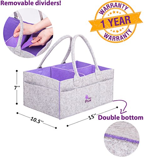 Baby Diaper Caddy and Nursery Car Organizer - Baby Shower Gift for Boy Girl - Changing Table Organizer - Newborn Registry Must Have - Cloth Diaper Caddy - Baby Toys Organizer