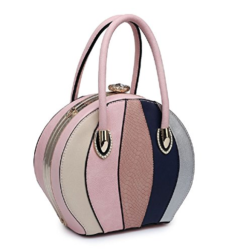 Handbag Bag Silver Round Panel Women's Handbag Clasp Gem MA34975 Ladies Tote Multi Shoulder qBTUXxwZvc
