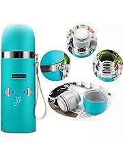 DMZK Botella de Agua de Acero Inoxidable niños, Diseño Elefante para Mantener Agua Caliente y