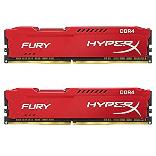 Kingston Technology HyperX Fury Red 16GB 2400MHz DDR4 CL15 DIMM Kit of 2 1Rx8 (HX424C15FR2K2/16) (B06XNPT329) | Amazon price tracker / tracking, Amazon price history charts, Amazon price watches, Amazon price drop alerts