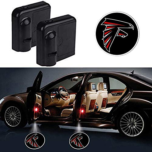 wesport Car Door Led Welcome Laser Projector Car Door Courtesy Light Suitable Fit for all brands of cars (Atlanta Falcons)