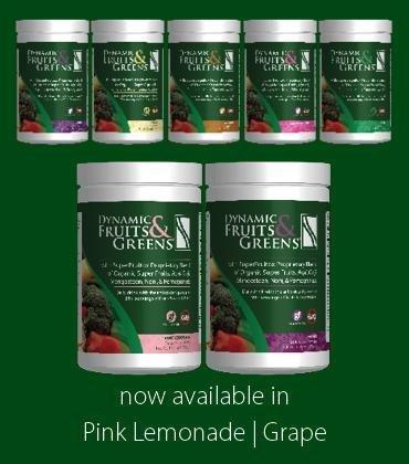 Dynamic Fruits & Greens *Certified Organic* w/ Acai, Gogi, Mangosteen, Noni & Pomegranate Super Fruits 300 Grams (Grape) by Nutri-Dyn