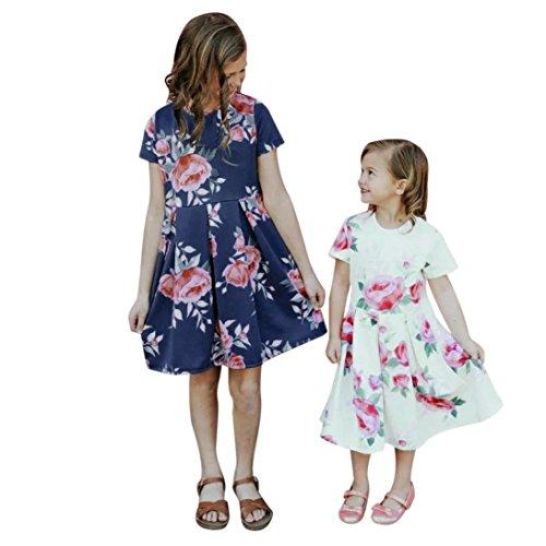 MCYs Mom amp; Me Baby Kind Mädchen Kurzarm Blumendruck Prinzessin ...