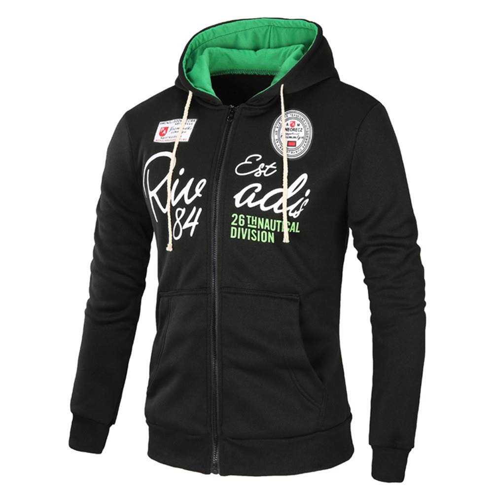 Amazon.com: Easytoy Mens Full Zip Thermal Hoodie Sweatshirt Jacket Coat Pockets: Sports & Outdoors