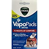 Vicks VapoPads Refill Pads 8 Hours Soothing Menthol 12 Scent Pads