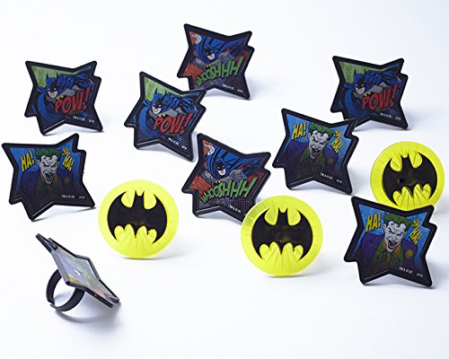 24 Blue Foil Cupcake Liners Batman Symbol Image Joker Toppers 30 Batman Cupcake Rings Kit Blue Sugar Sprinkles 4oz