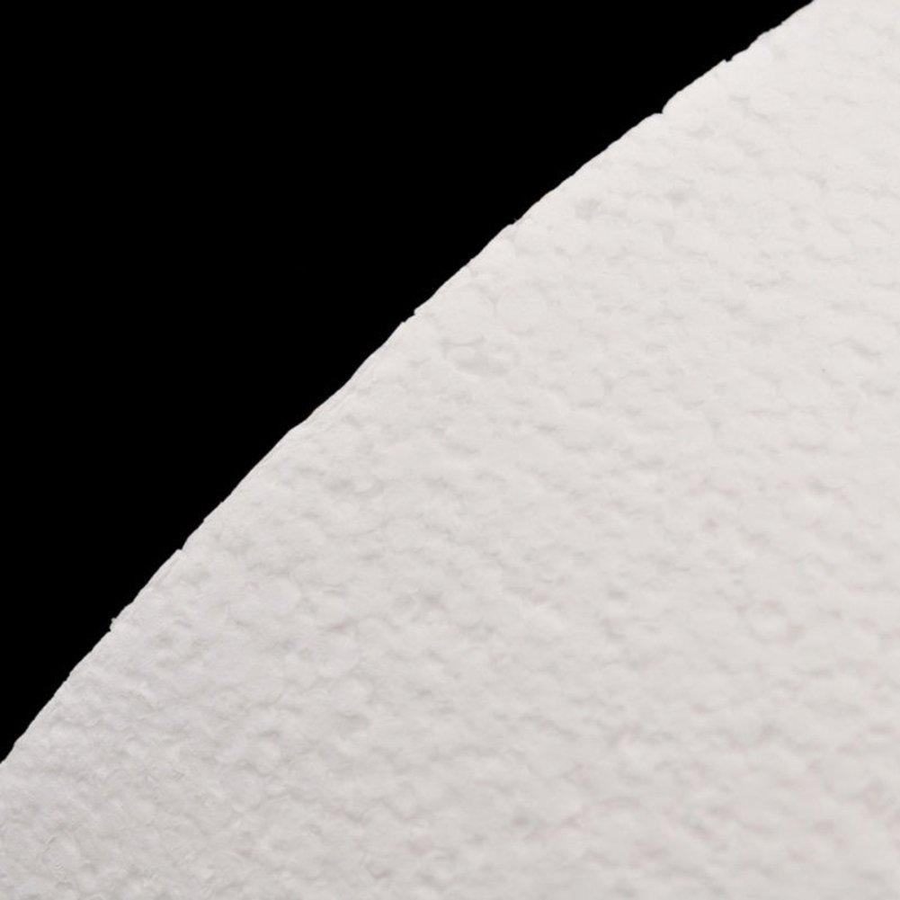 Yamalans 4/6/8inch Round Styrofoam Foam Cake Sugarcraft Decor Practice Model Cake Polystyrene Foam for Wedding Display Window, Decorating, Craft White 8 by Yamalans (Image #5)