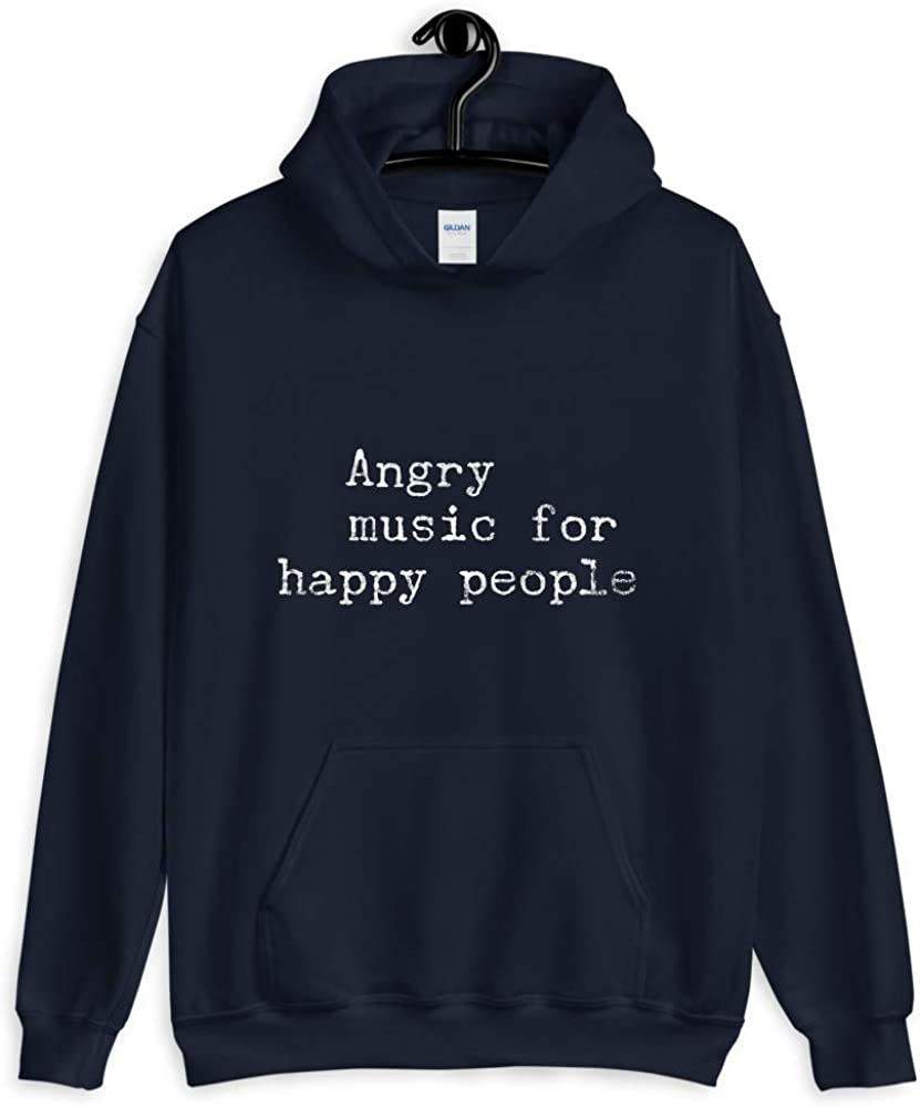 Heavy Metal Unisex Hoodie Angry Music for Happy People Gifts for Music Lovers Rap Hip Hop Rock