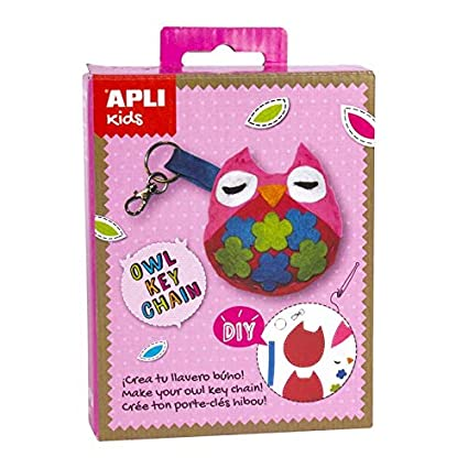 Amazon.com: APLI Apli14718 Owl Felt Key Chain Mini Kit: Toys ...