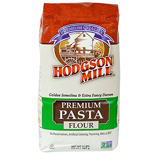 Hodgson Mill Semolina Pasta Flour, 2-Pounds (Pack of 6)