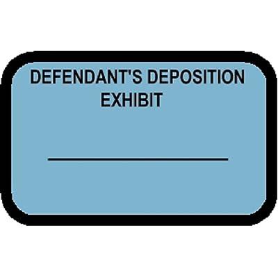 DEFENDANTS EXHIBIT Labels Stickers Blue 492 per pack