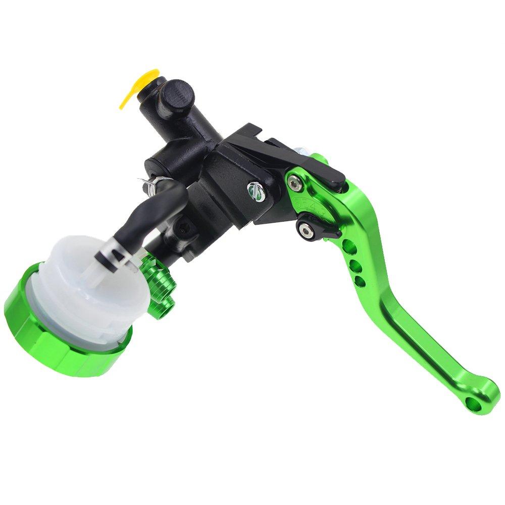 Rzmmotor CNC 7//8 22mm Motorcycle Brake Master Cylinder Reservoir Clutch Lever Universal Fit For HYOSUNG GT250R 06-10,Kawasaki NINJA 300R 13-16,NINJA 250R 08-12,Z250 13-14,Z125 14-16