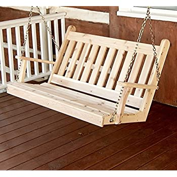 Amazon Com Amish Porch Swing 4 Ft Outdoor Hanging Porch