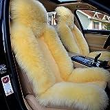 Sheepskin Car Seat Cover 1 Pair Car Cushion Front Driver ...