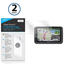 Garmin Dezl 570LMT Screen Protector, BoxWave® [ClearTouch Crystal (2-Pack)] HD Film Skin - Shields From Scratches for Garmin Dezl 570LMT