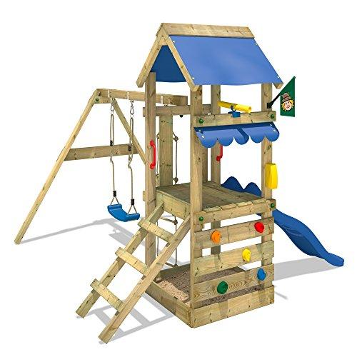 WICKEY FreshFlyer Spielturm Kletterturm Schaukel Rutsche Podesthöhe 90cm