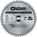 Oldham 10060TP All Purpose 10-Inch 60 Tooth ATB Crosscutting and Ripping Saw Blade with 5/8-Inch Arbor