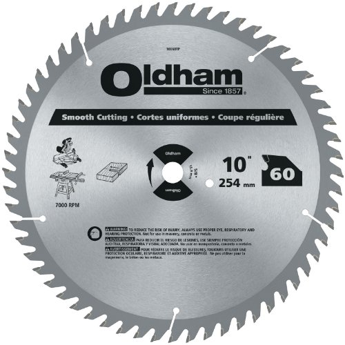 - Oldham 10060TP All Purpose 10-Inch 60 Tooth ATB Crosscutting and Ripping Saw Blade with 5/8-Inch Arbor