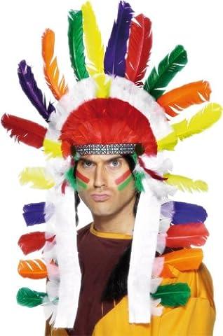 Smiffy's Indian Headdress - Long (Indian Chief Kostüm Zubehör)