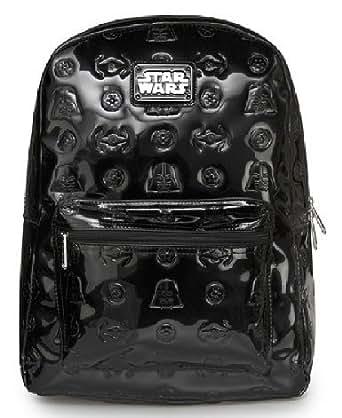 Amazon.com: Darth Vader Darkside Black Emboss Backpack ...