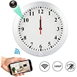 1080P WiFi Spy Hidden Camera Wall Clock Motion Detection Video Camera Remote View Camcorder Baby Pet Nanny Monitor Cameras for Home Surveillance Security
