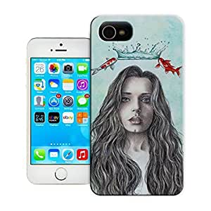 Unique Phone Case Innovation girl coronation by ireneshpak Hard Cover for iPhone 4/4s cases-buythecase