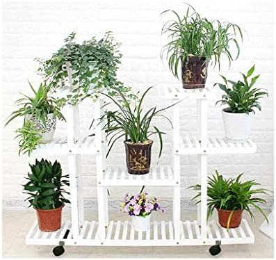 Standing Flower Rack Wood Plant Stand Bonsai Display Storage