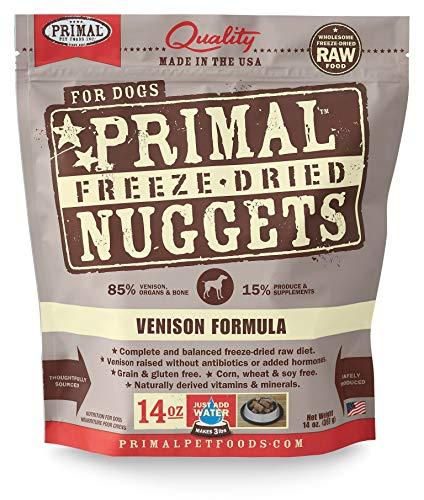 Primal Freeze Dried Venison Dog Food, 14 oz. For Sale