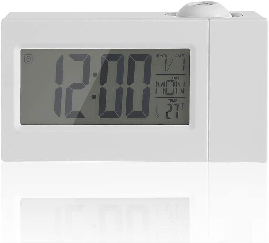 Details about  /Digital LCD Projector Alarm Clock Voice LED Temperature Multifunctional Clock