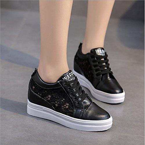 Plataforma Corrientes 35 39 Blanco Blanco Cómodos Zapatillas para Negro de Zapatos Mujer Casual Zapatos Sneakers Spring Portátiles Summer Zapatos Deportivos fScxPZ8q
