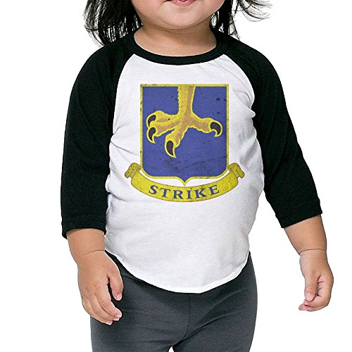 Hot Children's Middle Sleeve T Shirt Tops - US Army Retro 502nd Parachute Infantry Regiment (Stb Baseball)