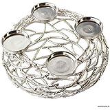 Adventskranz - Metall / Draht - Farbe: Silber