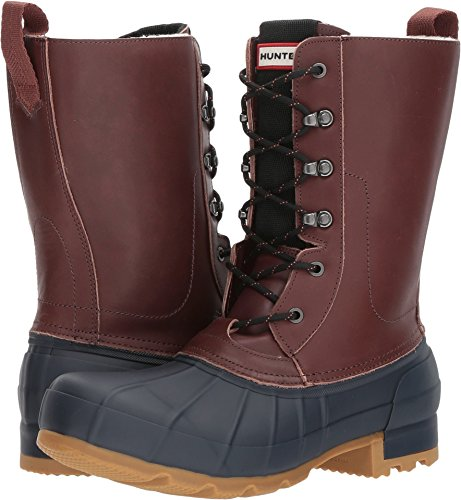 Hunter Men's Original Insulated Pac Boot Burnt Sienna/Navy 10 M US Toe Pac Boot