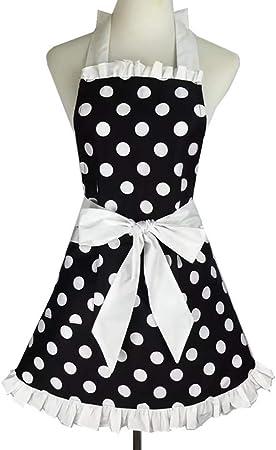 Tablier r/étro de tabliers de cuisine ch/érie vintage de femmes tablier /à pois 100/% coton tablier robe de princesse tablier tablier sup/érieur